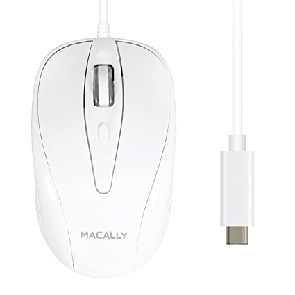Amazon.com: Macally Wired USB-C Mouse for Apple MacBook Pro 2017 ...