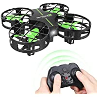 Dwi Dowellin Mini Drone Crash Proof RC Quadcopter One Key Take Off Nano Drones Toys for Kids Children Beginners Boys and Girls, Green