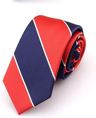Huyizhi Corbata formal de negocios Corbata a rayas azul marino y ...