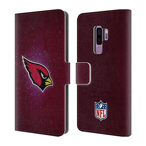 (Official NFL LED 2017/18 Arizona Cardinals Leather Book Wallet Case Cover for Samsung Galaxy S9+ / S9)