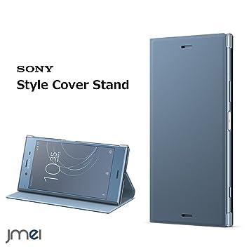 e2208d8e44 Xperia XZ1 ケース ソニー 純正 Style Cover Stand SCSG50 ブルー SOV36 SO-01K 手帳型