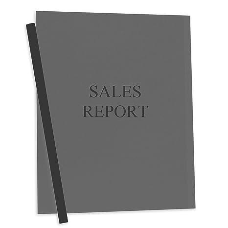Amazon.com : C-Line Report Covers with Binding Bars, Smoke Vinyl ...