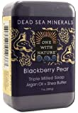 One With Nature Dead Sea Mineral Soap, Blackberry Pear, 7 Ounce