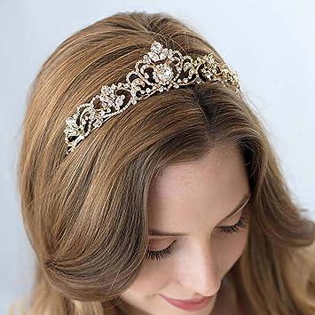 Amazon Com Leiothrix Rhinestone Crowns And Tiaras Baroque Princess