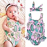 Xmas gift Toddler Baby Girl Sunsuit Cactus Swimsuit