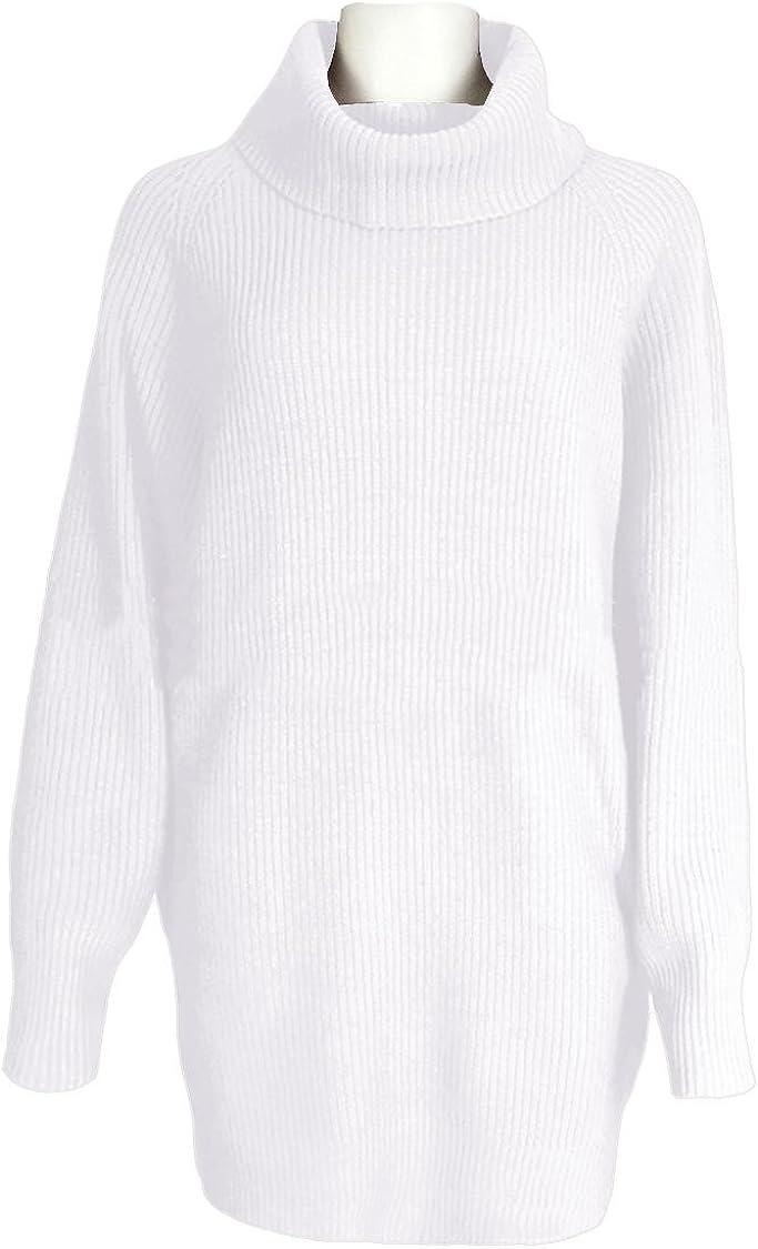 KAKALOT Women's Loose Oversize Turtleneck Wool Long Pullover