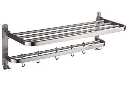 Amazoncom Elloallo Stainless Steel Rack Shelf For Bathroom
