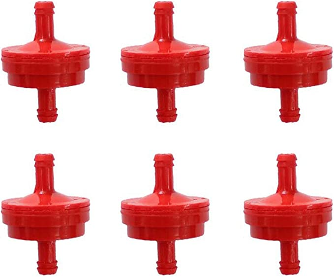 FUEL FILTER RED HOSE 2 LINE CLIPS GENUINE BRIGGS /& STRATTON 298090 395018