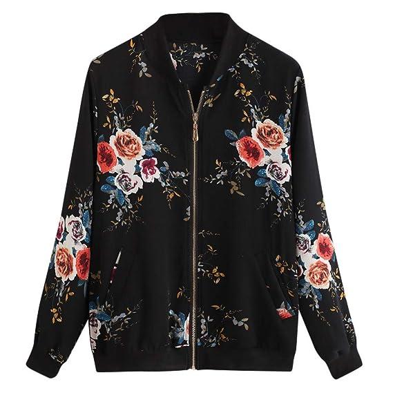 68ee2d272 MEIbax Manteau Outwear Manteau Bomber Jacket Imprimé Floral Femme ...