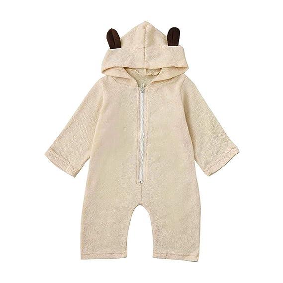 6e5d2be62963 Amazon.com  Baby Boys Girls Hoodies Romper Clearance - Iuhan Newborn ...