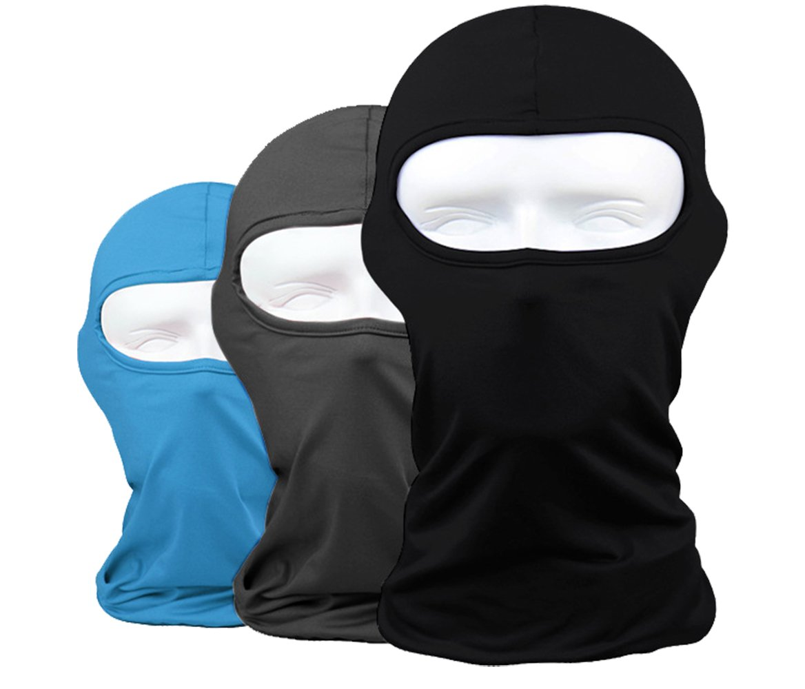 Lycra Fabrics Ski Face Mask Motorcycle Cycling Bike Bandana Hiking Skateboard Balaclava Assorted 3PCS