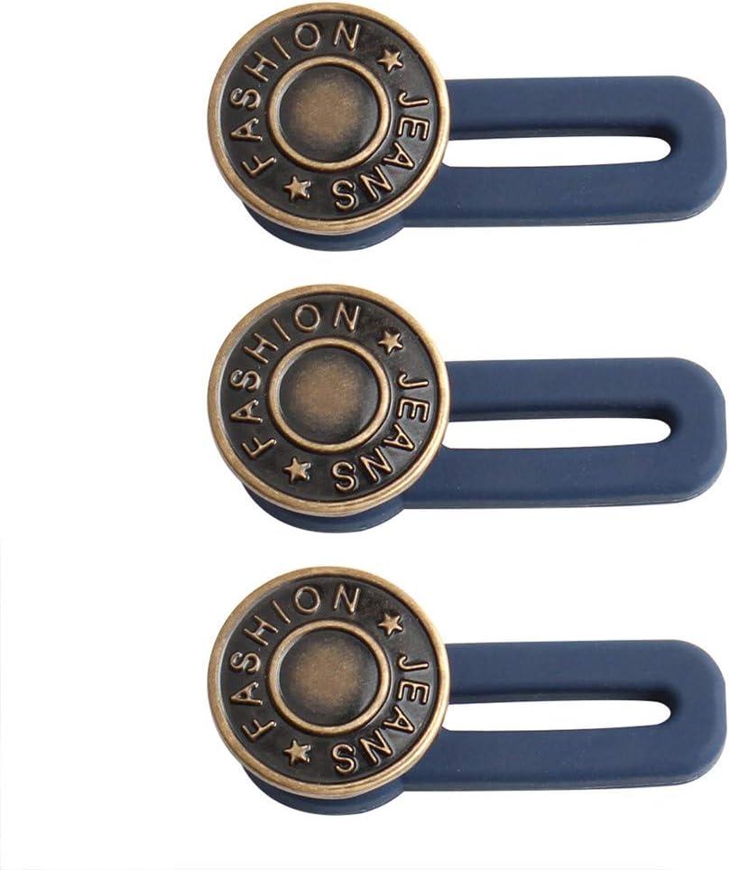 10Pcs Jeans Retractable Button Adjustable Detachable Extended Button For Pants