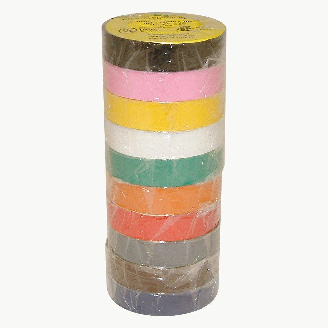 J.V. Converting E-TAPE-PACK/RAINB07522 JVCC E-Tape Electrical Tape Rainbow Pack, 66' Length x 3/4'' Width, Rainbow Pack Colors