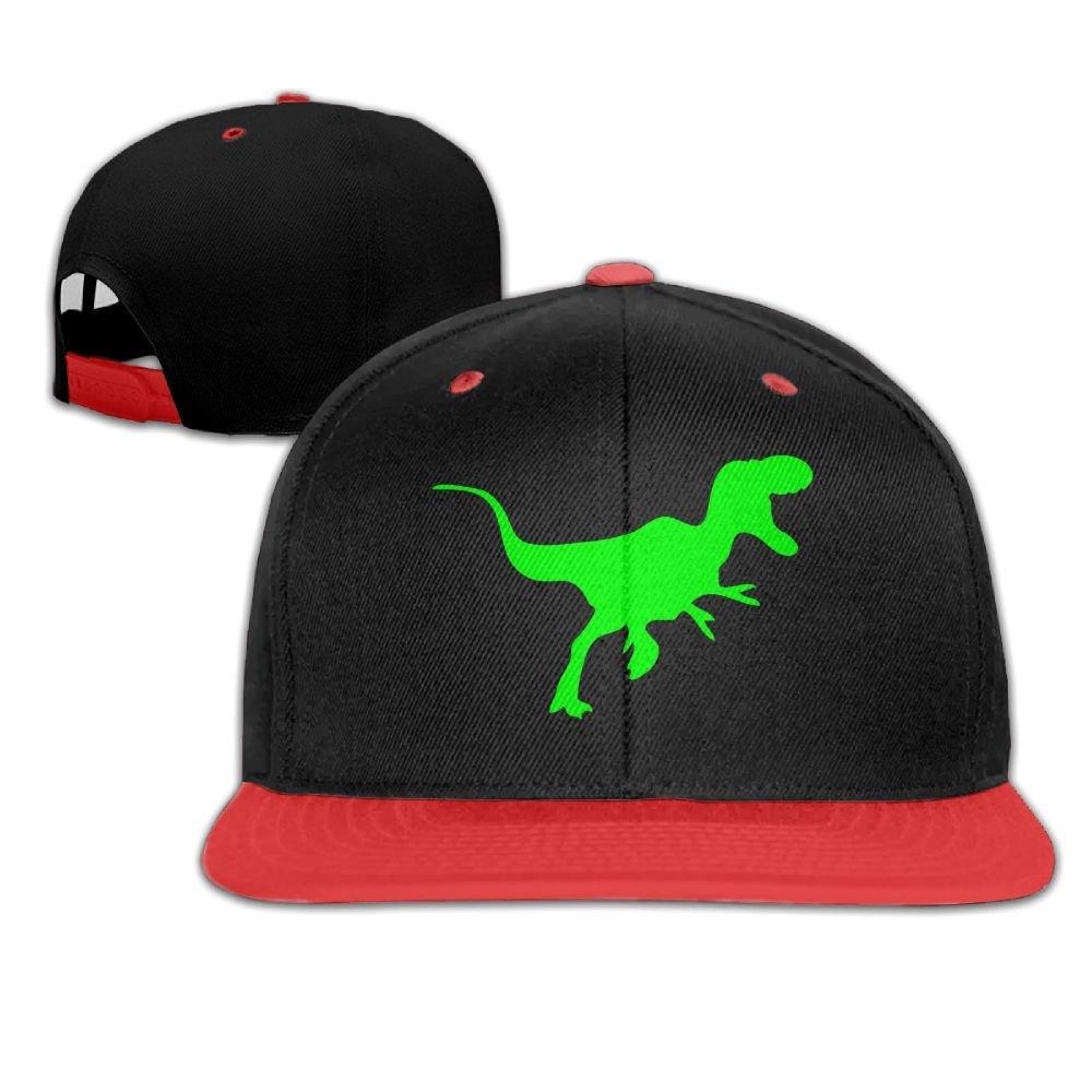 Sfspo Pp Black Big Hip Hop Cap Cotton Baseball Hat Green Dinosaur Boy& Girl