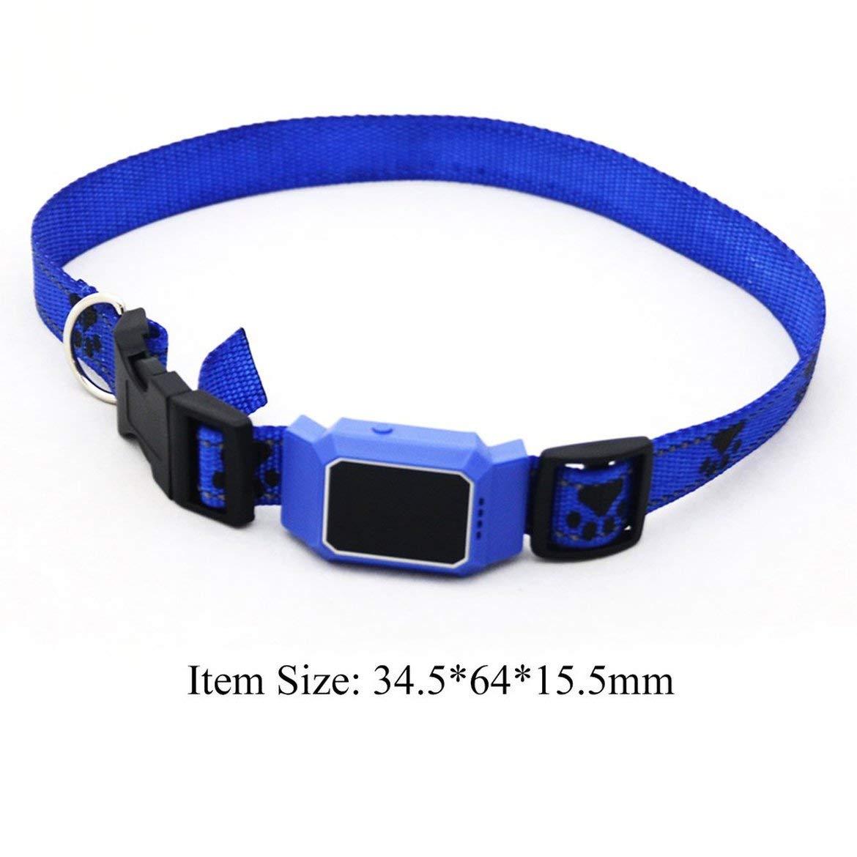 Blu JohnJohnsen D35 Impermeabile gsm GPS Pet Tracker Sistema per Cani Gatti App Gratuita per Mobile Cane Gatto Animali Tracer Anti Perso Collare Smart Finder