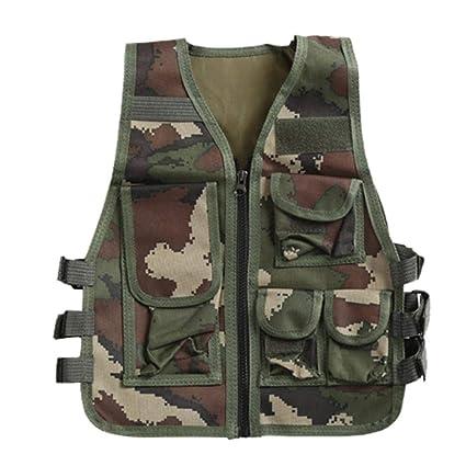 Amazon.com: Kids Army All Terrain Camo Combat Vest - Fits ...