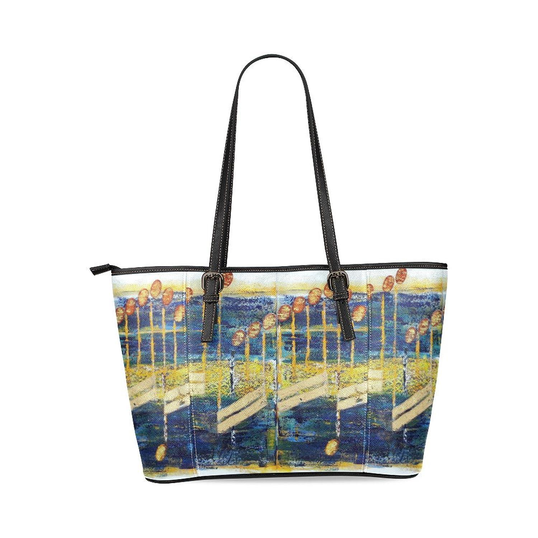 Artwork Music Note Custom PU Leather Large Tote Bag/Handbag/Shoulder Bag for Fashion Women /Girls