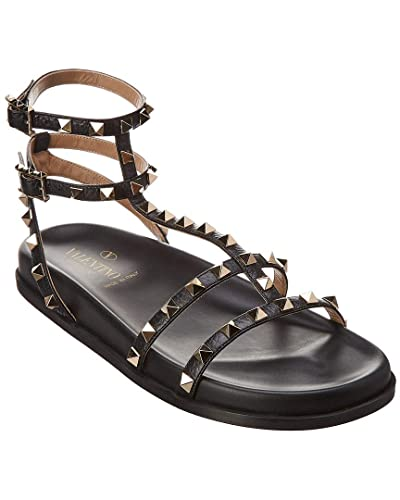 e6d5c47a7a2 Image Unavailable. Image not available for. Color  VALENTINO Rockstud  Leather Gladiator Sandal ...