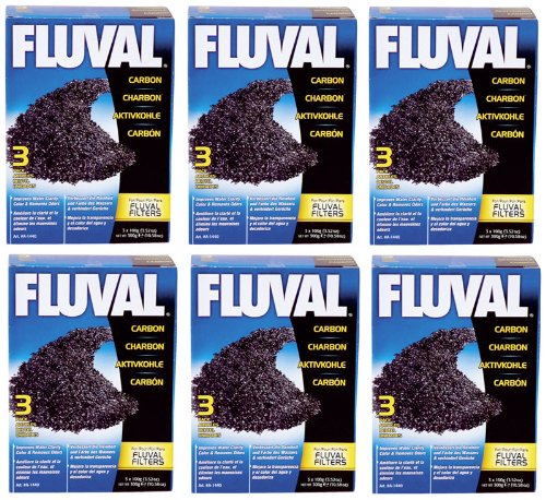 Hagen 18-Pack Fluval Carbon Nylon Bags for Canister Filters, 100gm ()