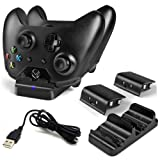 LinkBand Compatible with Xbox One/One X/One S Controller Charger, Dual Slot Charging Station with 2 Rechargeable Battery Pack