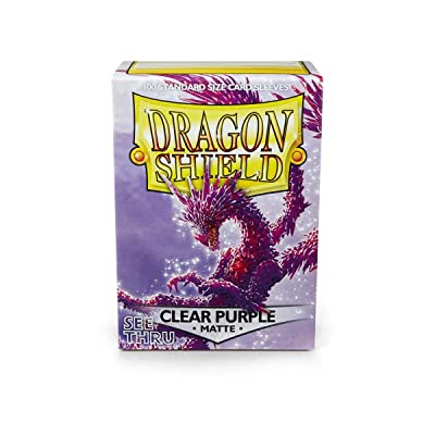 Arcane Tinman Card Sleeves: Dragon Shield Matte Clear Purple: Toys & Games