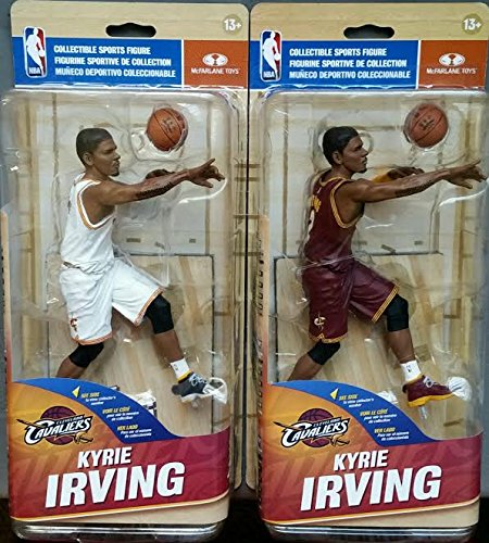McFarlane Toys NBA 29 Cleveland Cavaliers Kyrie Irving [White Home Uniform & Maroon Road Uniform]