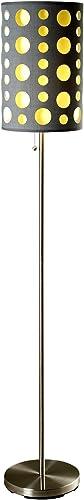 ORE International 66″ H Modern Retro Grey-Yellow Floor Lamp Gray and Yellow/Metal