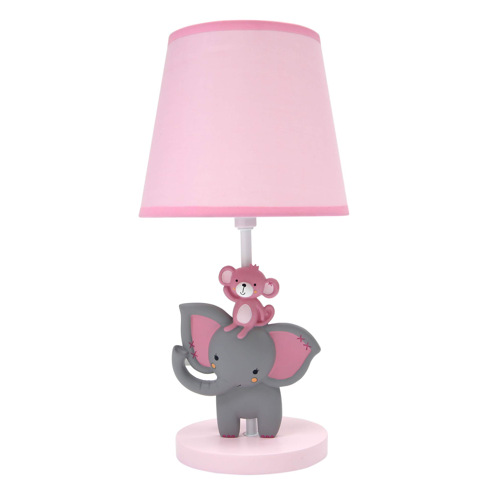 Bedtime Originals Twinkle Toes Lamp with Shade & Bulb, Pink
