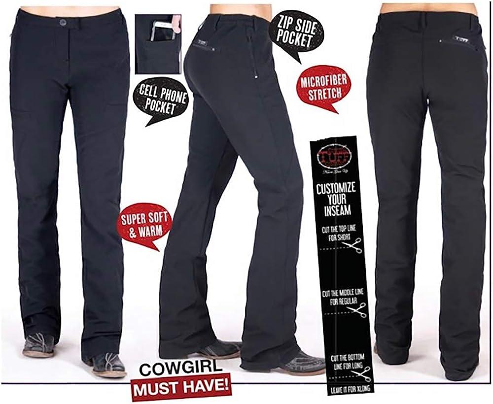 Cowgirl Tuff Co Womens Ladies Black Work Hard Play Hard Pants