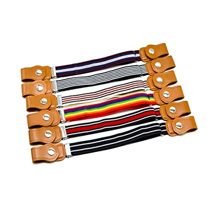 shengyuze Child Kids Buckle Free Adjustable Elastic Waist Belt Striped Waistband for Boys Girls