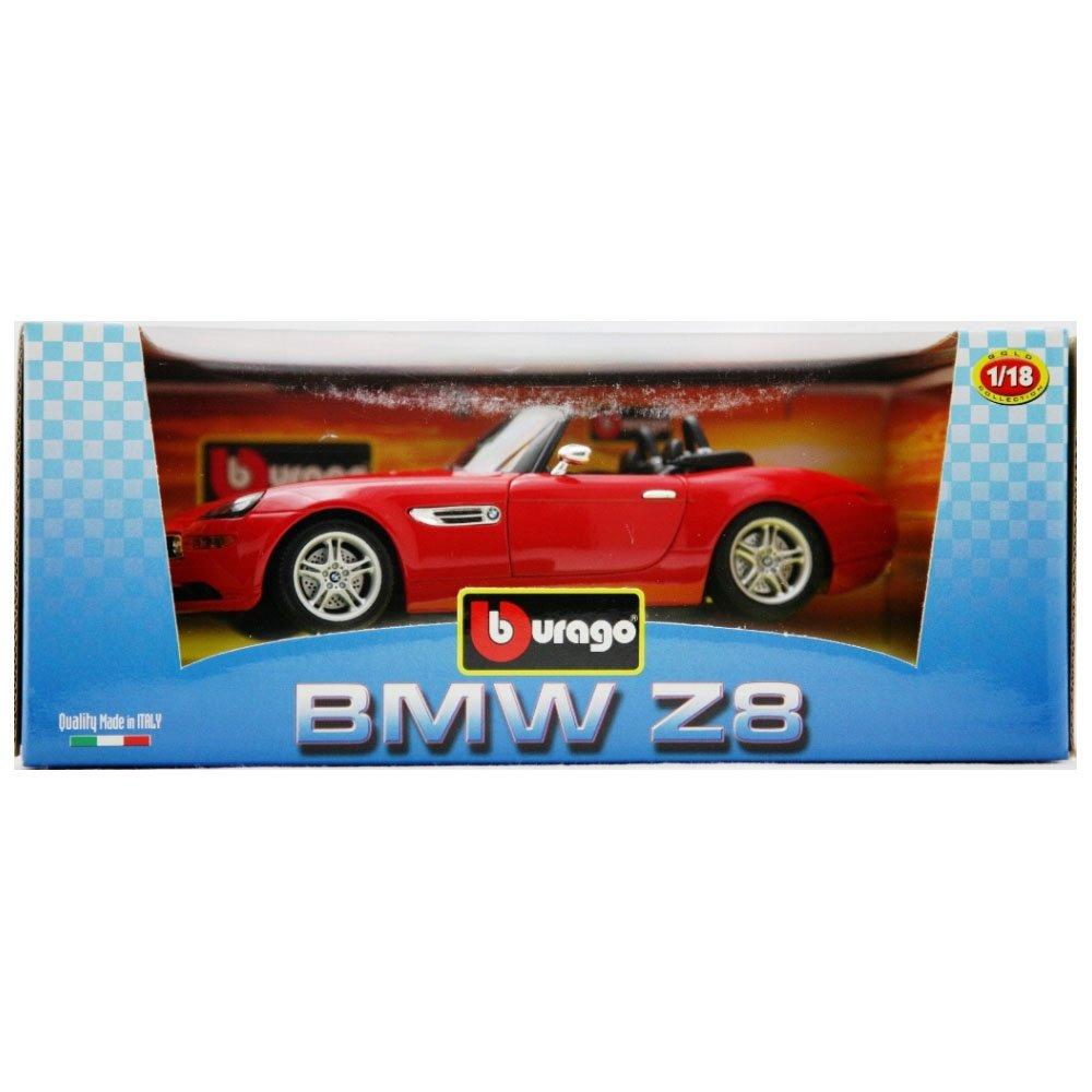 Burago 1/18 Scale Diecast 33772 BMW Z8 Red Roadster Model Car B0002VZ0KW