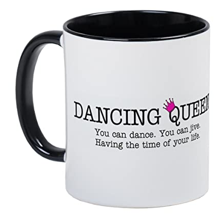d53fab04129 Image Unavailable. Image not available for. Color: CafePress - Dancing  Queen Mug - Unique Coffee Mug, Coffee Cup