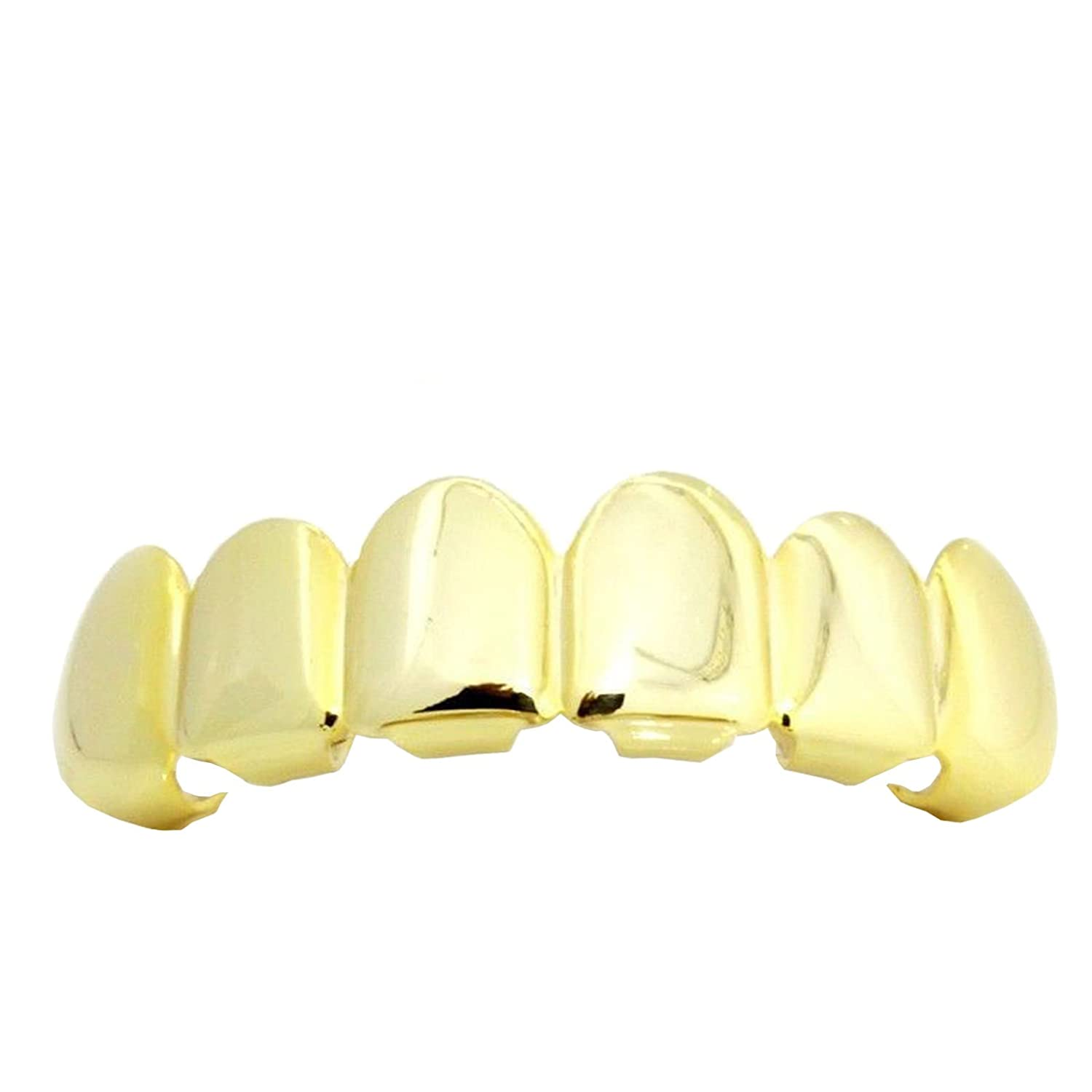 Hip Hop Gold Tone Removeable Mouth Grillz Top Upper Row Player Hip Hop Style