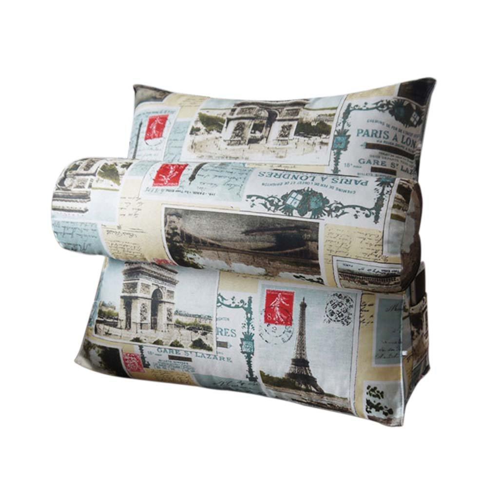 LANNA SHOP- 腰椎クッションバックサポート枕 読書枕 ベッドの背もたれとソファ 背中の痛みや坐骨神経痛に 60 * 50 * 20cm 60*50*20cm  B0751B7PY9