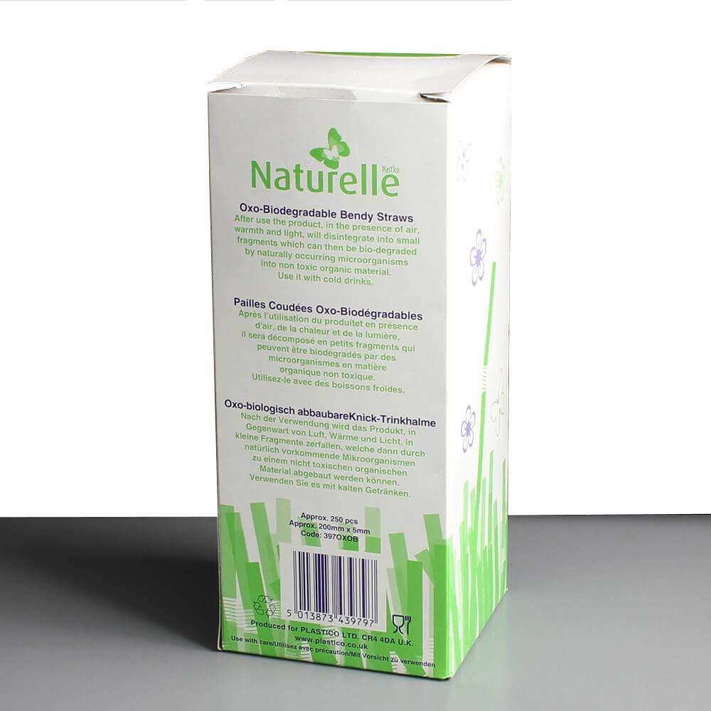 Pajitas transparentes biodegradables de 200 mm x 5 mm con pajitas ...