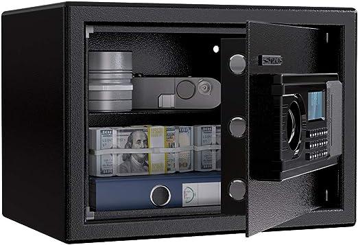 Caja Fuerte Convencionales de Seguridad, SLYPNOS - Caja de Seguridad (Regalo con 4 AA batterias+2 Llaves de Emergencia), Anti-Vibración Electroimán (M-LED(16L)): Amazon.es: Bricolaje y herramientas