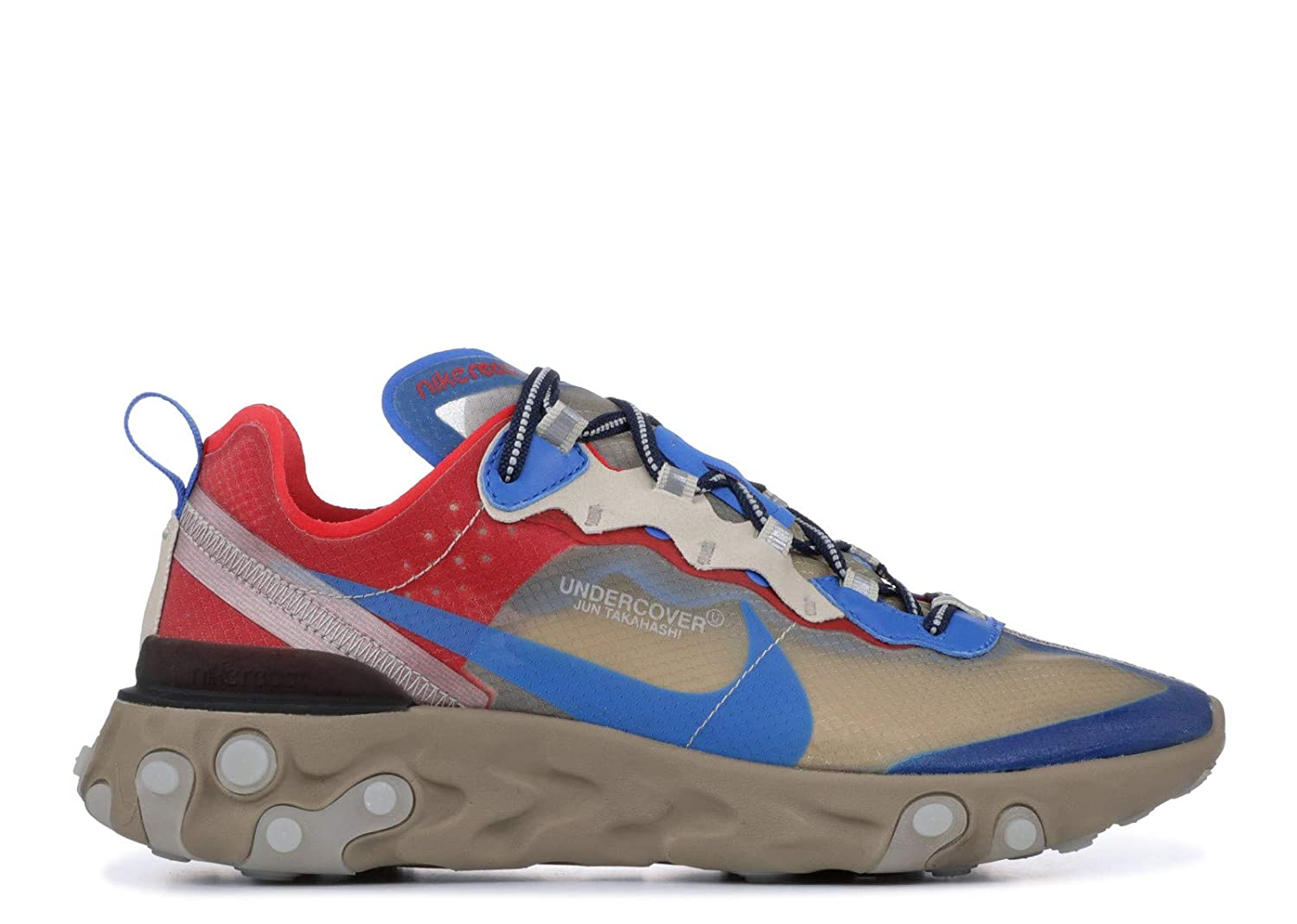 buy popular 65c0a 7b721 Amazon.com   Nike React Element 87  Undercover BQ2718 200 Beige Blue Red   Fashion  Sneakers