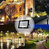 Yuanline Focos LED Exterior de Blanco Cálido 100W 10000LM, 3000k, Ultrafino y Ultraligero para Jardín, Garaje, Patio, Estadio, Fábrica, Almacén, Cuadrado Resistente al Agua IP65: Amazon.es: Bricolaje y herramientas