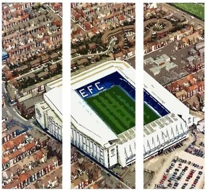 Goodison Park Everton Fc Big 3 Piece Canvas Art Print Framed And Ready To Hang Amazon Co Uk Kitchen Home