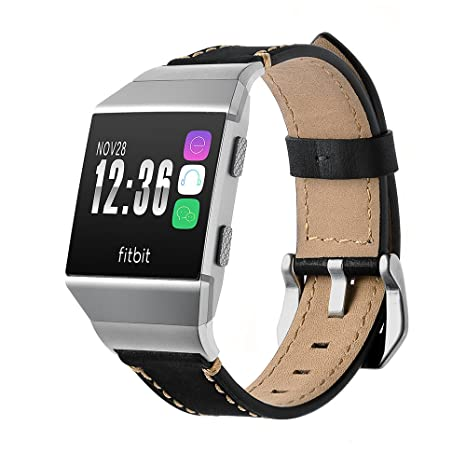 Loveblue para Fitbit banda iónico, Fitbit Ionic accesorios nueva correa de cuero suave pulsera de