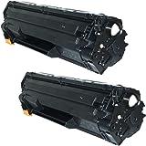 Prestige Cartridge CE285A Pack de 2 Cartuchos de tóner láser para HP Laserjet Pro P1102, P1102W, M1210, M1210MFP, M1212, M1212NF, M1213NF, M1217NFW, M1130, M1132, M1132MFP, M1134, M1134MFP, M1136, M1136MFP, P1100, P1101, P1103, P1104, P1104W, P1106, P1108