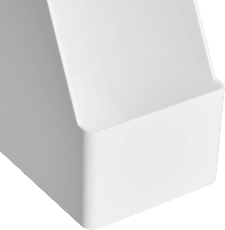 1 St/ück Basics Kunststoff-Organizer Wei/ß Zeitschriftenhalter