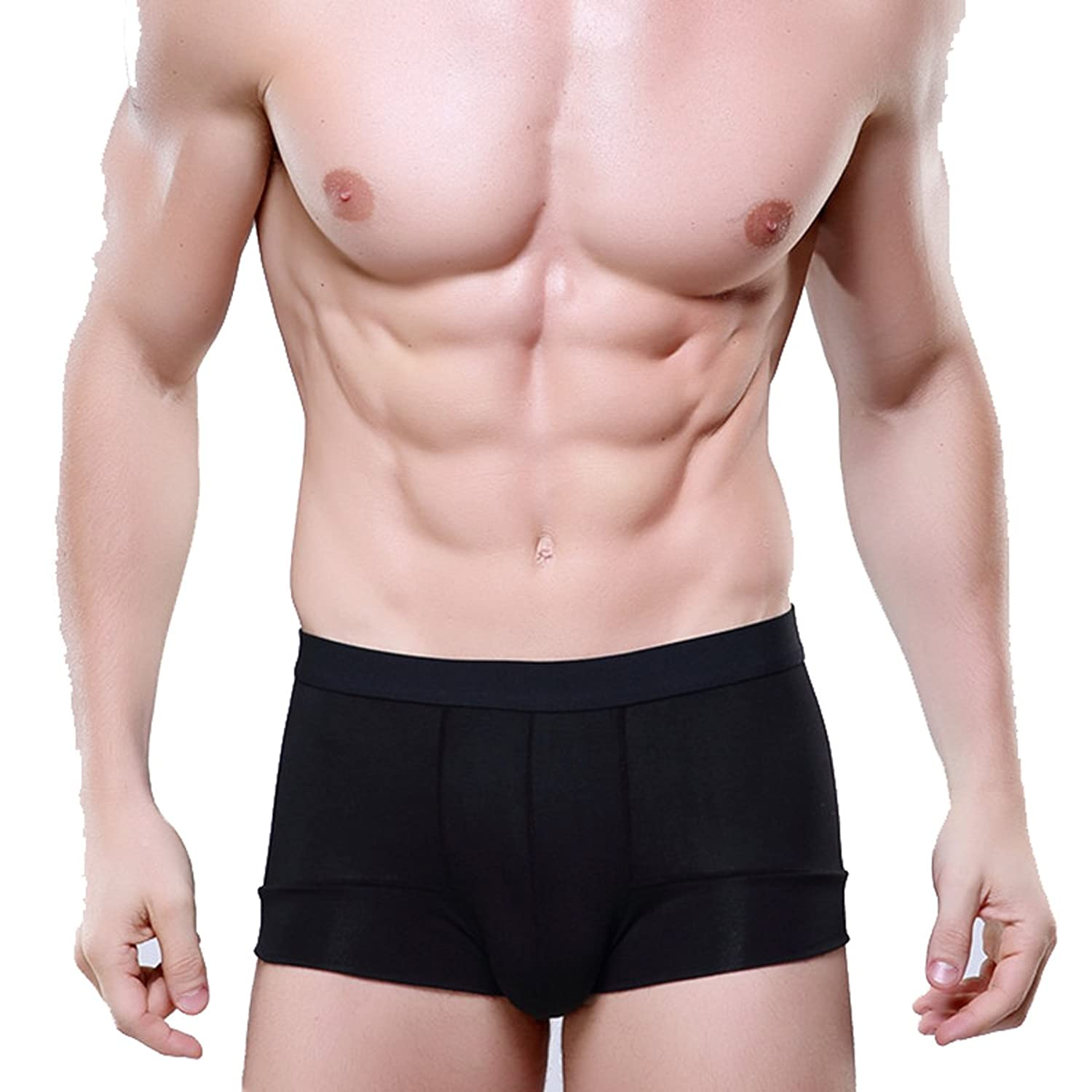 Mens Cool Bamboo Fiber Solid Underwear Boxers Briefs at Amazon Men\'s ...