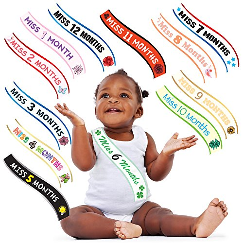 Crowning Baby Costume (Baby Monthly Stickers for Girls - The Miss Valedictorian Series)