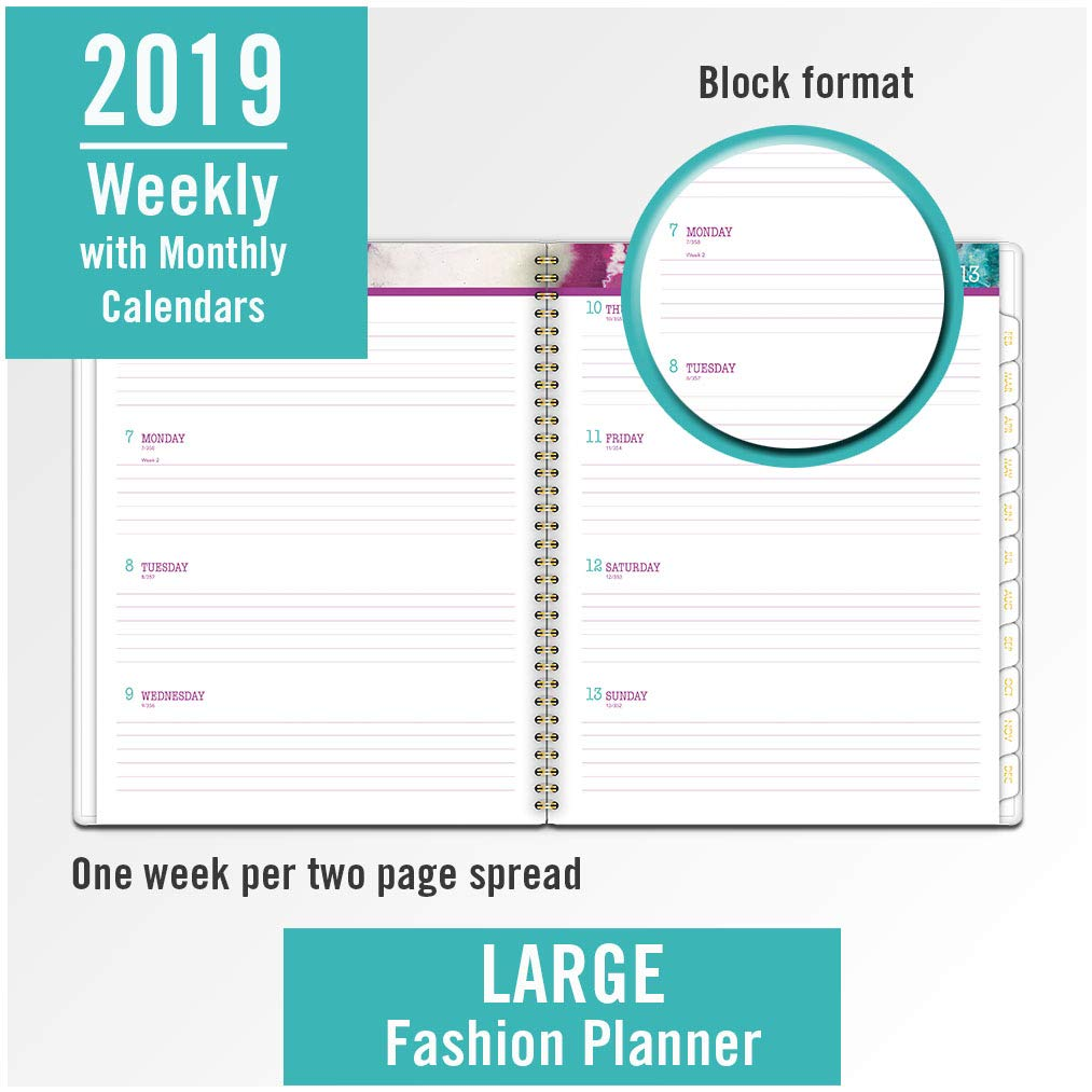 Cambridge 2019 Weekly & Monthly Planner, 8-1/2