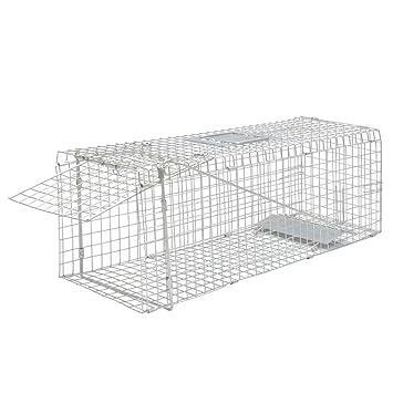 vidaXL Trampa galvanizada para capturar Animales Vivos 80 cm ratonera Jaula jardín: Amazon.es: Deportes y aire libre