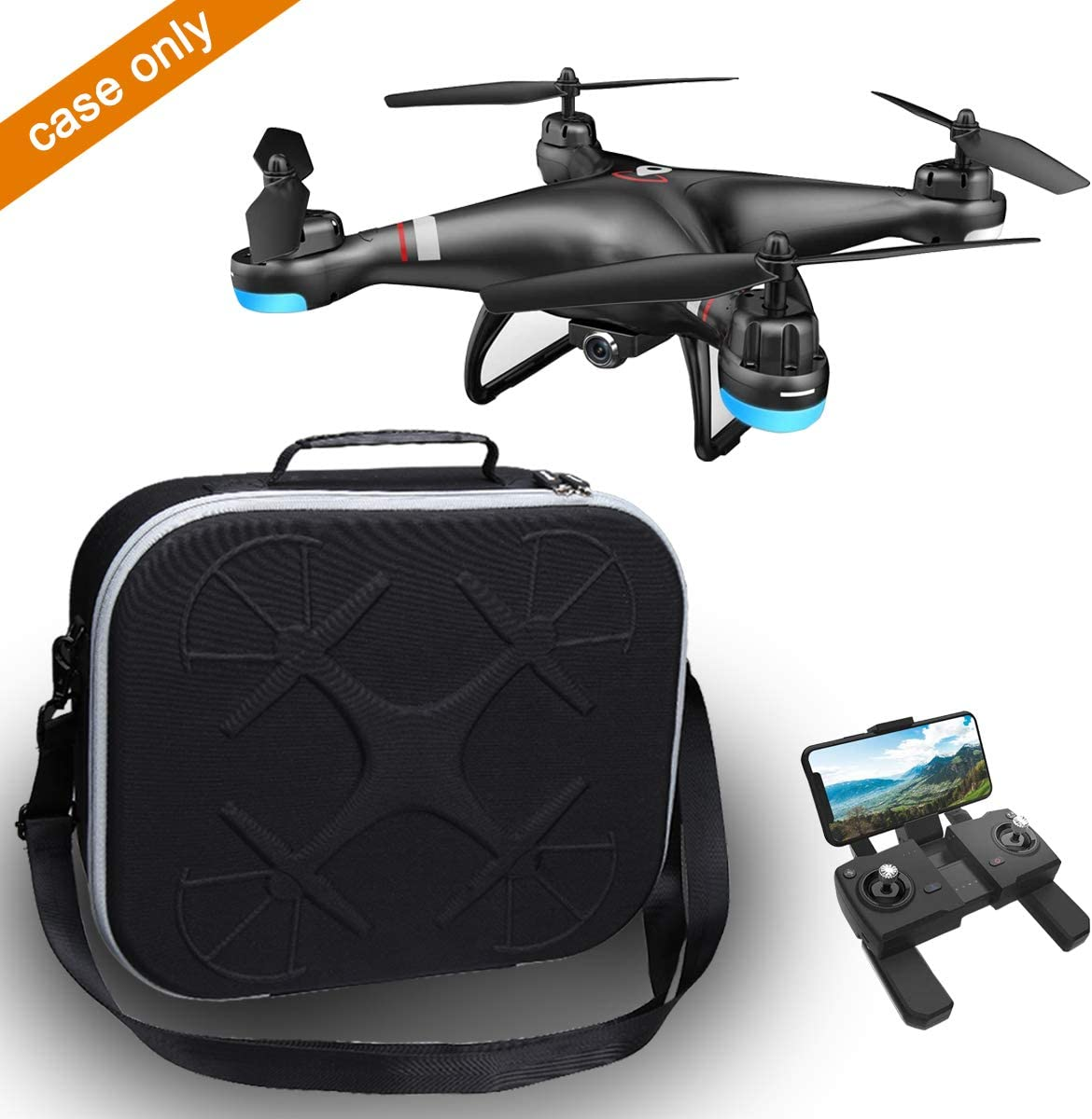 SNAPTAIN SP650// SNAPTAIN SP600 WiFi FPV Drone CASE ONLY Aproca Hard Protective Storage Case for Holy Stone HS110G