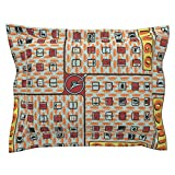 Roostery Highways Euro Flanged Pillow Sham Road Trip Bingo! by Thirdhalfstudios Natural Cotton Sateen Made