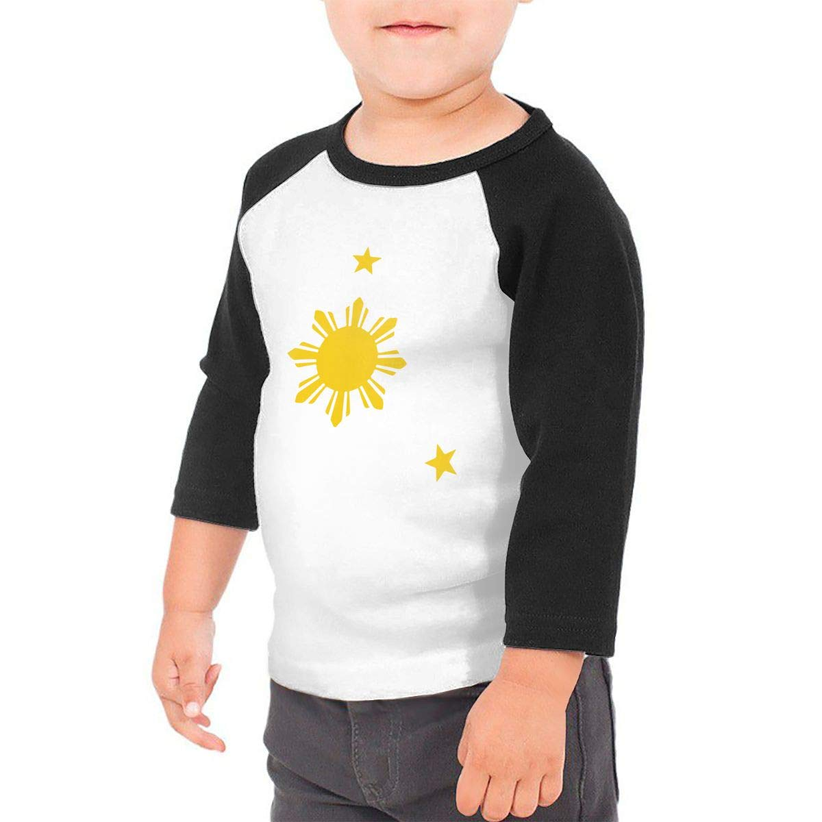 Boys Girls Kids /& Toddler Philippines Sun and Stars Long Sleeve Tees 100/% Cotton