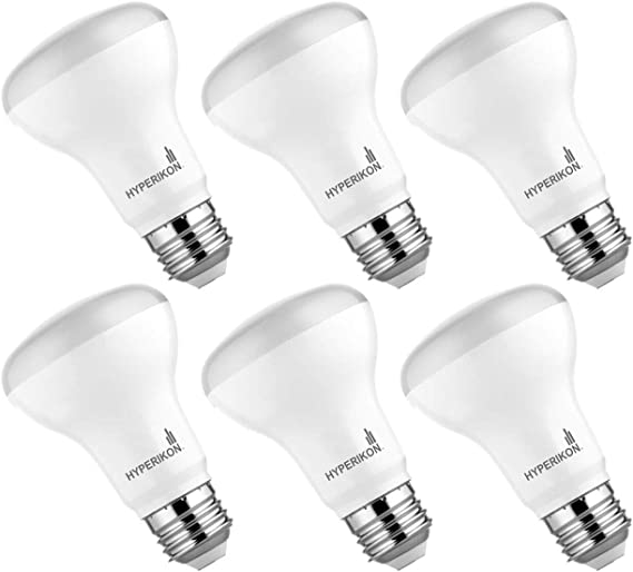 Warm White 2700K 6 Pack 8W Hyperikon BR20 LED Dimmable Bulb Flood Light Bulb Inc. Long-Lasting Living Room CRI 90+ Outdoor 50W equivalent Ceiling Recessed and Track Lighting Bedroom Kitchen
